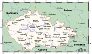 Geography of the Czech Republic - Map of the Czech Republic