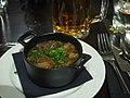 Czech garlic soup at restaurant Vltava.jpg