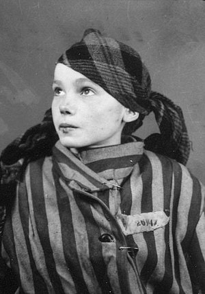 Czesława Kwoka -  As an inmate at Auschwitz concentration camp in late 1942 or early 1943 Photograph credit: Auschwitz-Birkenau State Museum and Wilhelm Brasse