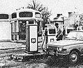 Czluchow 1972, gas station.jpg