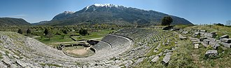 Epirus - The theater of Dodona with Mt. Tomarus in the background.