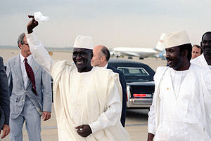 History of Guinea - President Ahmed Sekou Toure arrives for a visit to Washington D.C., June 1982.
