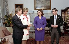 Charles And Diana With The US Vice President Dan Quayle His Wife Marilyn Following Enthronement Of Emperor Akihito 1990