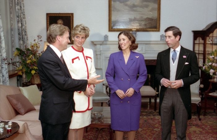 Dan Quayle and Marilyn Quayle with Prince Charles and Princess Diana