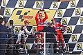 Dani Pedrosa, Casey Stoner and Nicky Hayden 2010 Aragón 3.jpg