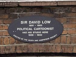 Photo of David Low black plaque