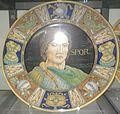 David Zipiroc, piatto con ritratto di guerriero (da Mantegna).jpg