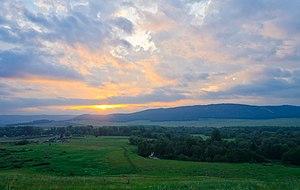 Ishimbaysky District - Image: Dawn over the Zigan River