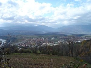 Debar - Debar with Debar Lake to the left