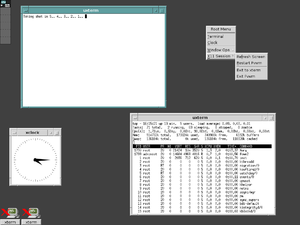 FVWM - FVWM emulating the Motif Window Manager (MWM)