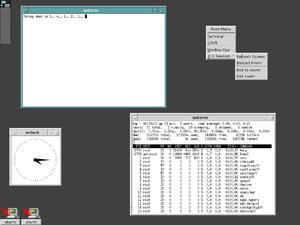FVWM - FVWM emulating the Motif Window Manager (MWM)