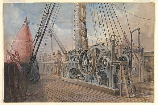 Deck of the Great Eastern, the Cable Trough, etc., 1866 MET DP820957