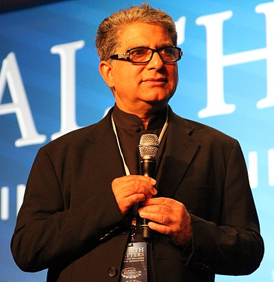 Deepak Chopra, Indian-American proponent of New Age philosophy and alternative medicine; physician, public speaker, and writer