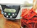 Dehydrator set at 140F for drying tomatoes.jpg