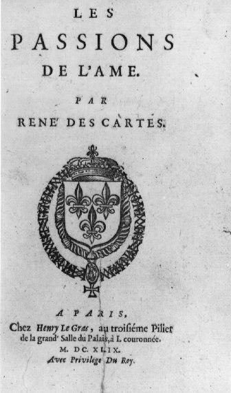 Descartes Les passions de l'ame