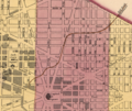 Detail of a 1851 Map of Washington, DC showing the layout of the Washington Branch Line.png
