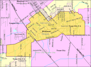 Dickinson, Texas - Map of Dickinson