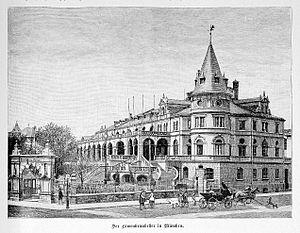 Löwenbräukeller - Löwenbräukeller around 1888, from Die Gartenlaube