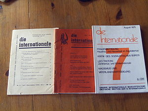 International Marxist Group (Germany) - Three copies of the journal Die Internationale.