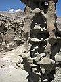 Differentially cemented & eroded sandstone (member C, Uinta Formation, Eocene; Fantasy Canyon, Utah, USA) 43 (24726623252).jpg