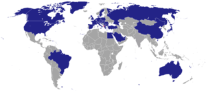 Foreign relations of Albania - Image: Diplomatic missions of Albania