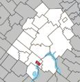 Disraeli (city) Quebec location diagram.png