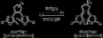 Photochromism - Dithienylethene photochemistry.