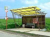 Dolní Břežany, autobusová zastávka.JPG