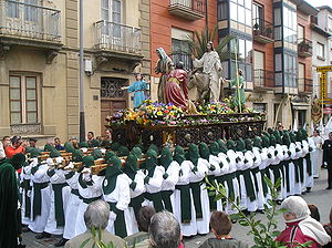 Paso - A large Paso in Spain is paraded during Holy Week.