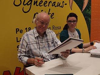 Don Rosa - Don Rosa (left) at the Helsinki Book Fair 2014.