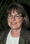 Donna Strickland, OSA Holiday Party 2012.jpg