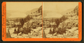 Donner Lake from summit, Lakeview Bluff, on the right, by Watkins, Carleton E., 1829-1916.png