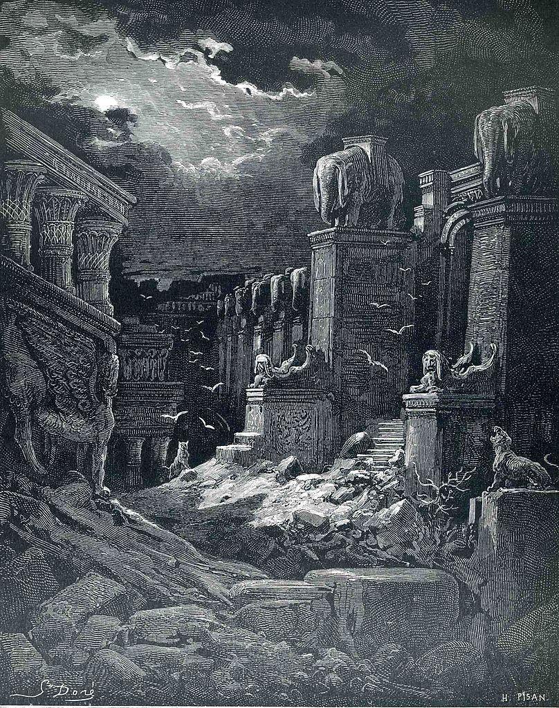 바벨론의 멸망 (귀스타브 도레, Gustave Doré, 1866년)