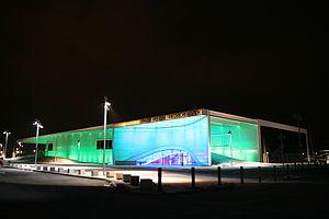 Dornier Museum Friedrichshafen - Image: Dornier Museum bei Nacht