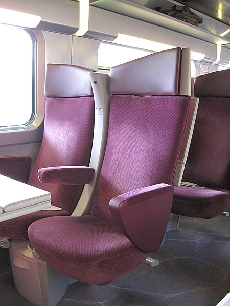 File:Double siège de voiture du Train à Grande Vitesse (TGV), design Christian Lacroix.JPG