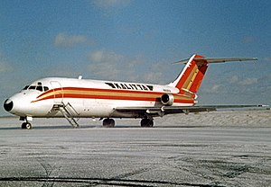 Kalitta Air - Kalitta Douglas DC-9 freighter at Detroit Willow Run in 1989
