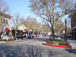 Downtown Davis in February 2008