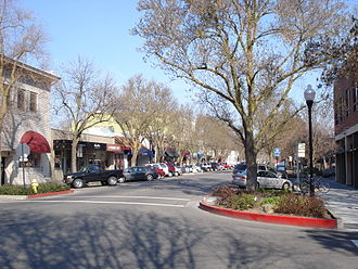 Davis, California - Downtown Davis in 2008