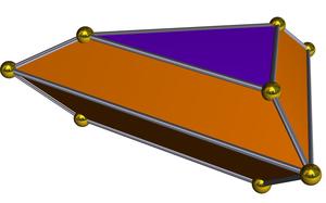 Elongated triangular bipyramid - Image: Dual elongated triangular dipyramid