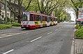 Duisburg Schweizer Straße DVG tram 1017 als lijn 901 (33310587553).jpg
