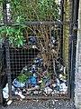 Dumped rubbish Church Road railway bridge, Tottenham London England 1.jpg
