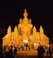 Durga Puja Pandal - Biswamilani - Padmapukur Water Treatment Plant Road - Howrah 2014-10-02 9170-9171.TIF