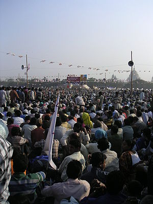 Civil liberties - Huge rallies like this one in Kolkata are commonplace in India.