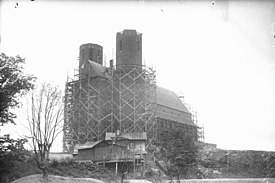 Kirken under opførsel 1919.