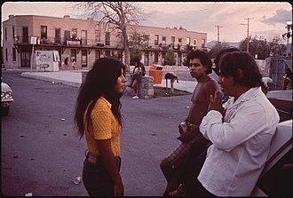 El Segundo Barrio - Photo by Danny Lyon for the National Archives, 1972.