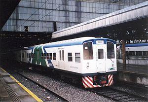 Roca Line - A 1983 Toshiba EMU in Metropolitano livery (2002).