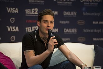 Netherlands in the Eurovision Song Contest 2016 - Douwe Bob during a press meet and greet