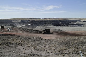 Campbell County, Wyoming - Eagle Butte coal mine north of Gillette