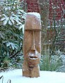 Easter Island Head in the snow. - geograph.org.uk - 95802.jpg