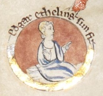 Edgar Ætheling - Edgar, from an illuminated tree of the family of Edmund Ironside